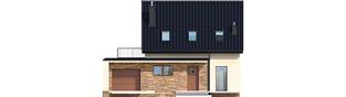Projekt domu E14 III G1 ECONOMIC - elewacja frontowa