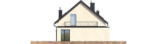 Projekt domu E14 III G1 ECONOMIC - elewacja lewa