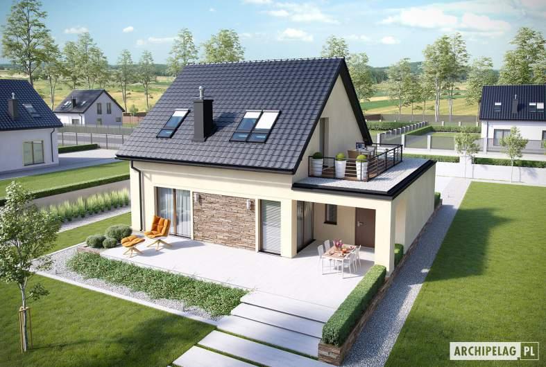 Projekt domu E14 III G1 ECONOMIC - Projekty domów ARCHIPELAG - E14 III G1 ECONOMIC - widok z góry