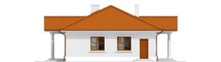 Projekt domu Jagódka - elewacja lewa