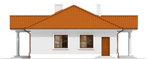 Jagi - Projekt domu Jagódka - wizualizacja lewa