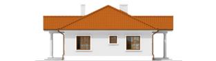 Projekt domu Jagódka - elewacja prawa