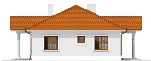 Jagi - Projekt domu Jagódka - wizualizacja prawa