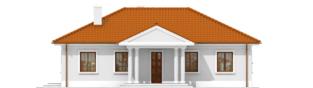 Projekt domu Jagódka - elewacja frontowa