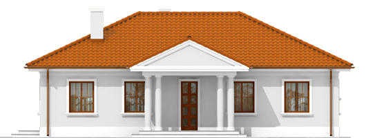 Jagi - Projekt domu Jagódka - elewacja frontowa