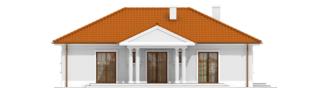 Projekt domu Jagódka - elewacja tylna
