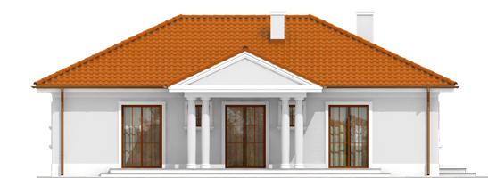 Jagi - Projekt domu Jagódka - wizualizacja tylna
