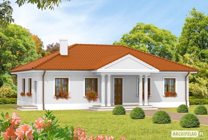 Projekt domu Jagódka - wizualizacja frontowa