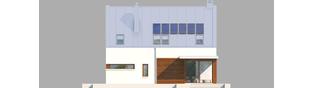 Projekt domu Liv 6 G1 - elewacja tylna