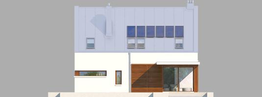 Liv 6 G1 - Projekt domu Liv 6 G1 - elewacja tylna