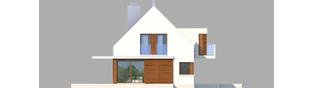 Projekt domu Liv 6 G1 - elewacja lewa