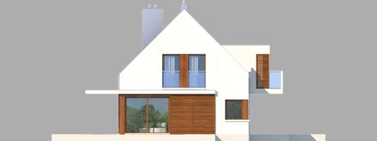 Liv 6 G1 - Projekt domu Liv 6 G1 - elewacja lewa