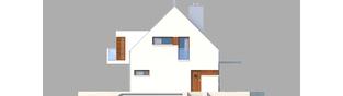 Projekt domu Liv 6 G1 - elewacja prawa