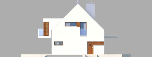 Liv 6 G1 - Projekt domu Liv 6 G1 - elewacja prawa
