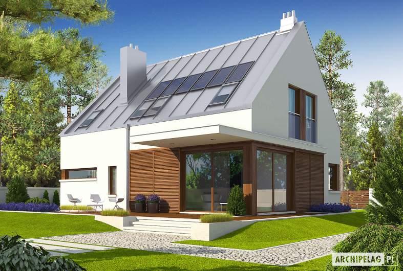 Projekt domu Liv 6 G1 - wizualizacja ogrodowa