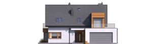Projekt domu Nils G2 - elewacja frontowa