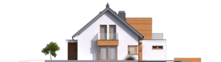 Projekt domu Nils G2 - elewacja lewa