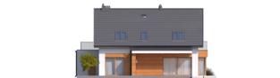 Projekt domu Nils G2 - elewacja tylna