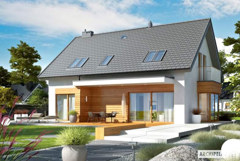 Projekt domu Nils G2 - wizualizacja ogrodowa