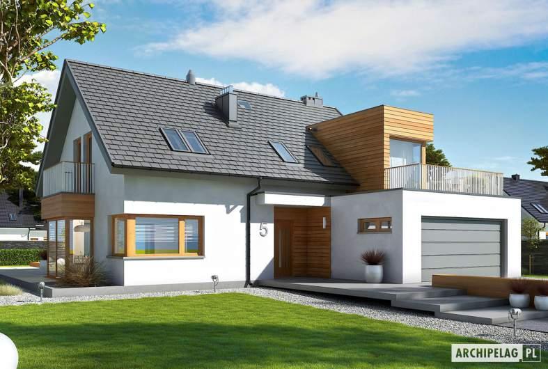 Projekt domu Nils G2 - wizualizacja frontowa