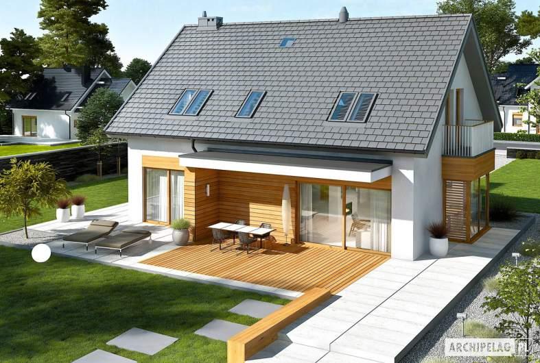 Projekt domu Nils G2 - widok z góry