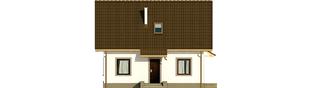 Projekt domu Celinka Mocca - elewacja frontowa