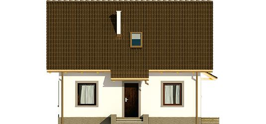 Celinka - Projekt domu Celinka Mocca - elewacja frontowa