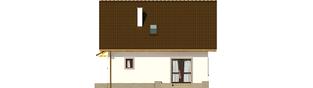 Projekt domu Celinka Mocca - elewacja tylna