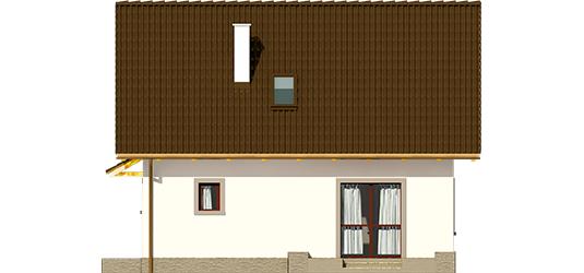Celinka - Projekt domu Celinka Mocca - elewacja tylna