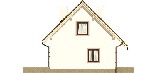Celinka - Projekt domu Celinka Mocca - elewacja lewa