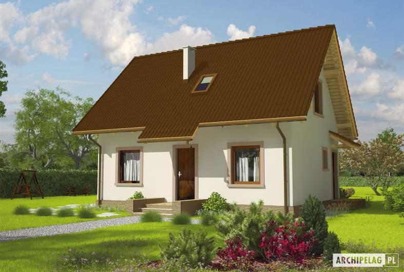 Projekt domu Celinka Mocca - wizualizacja frontowa