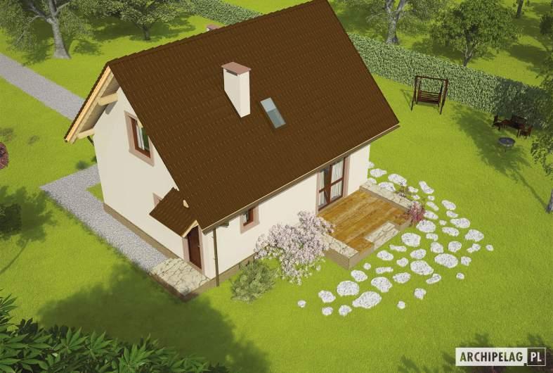 Projekt domu Celinka Mocca - widok z góry