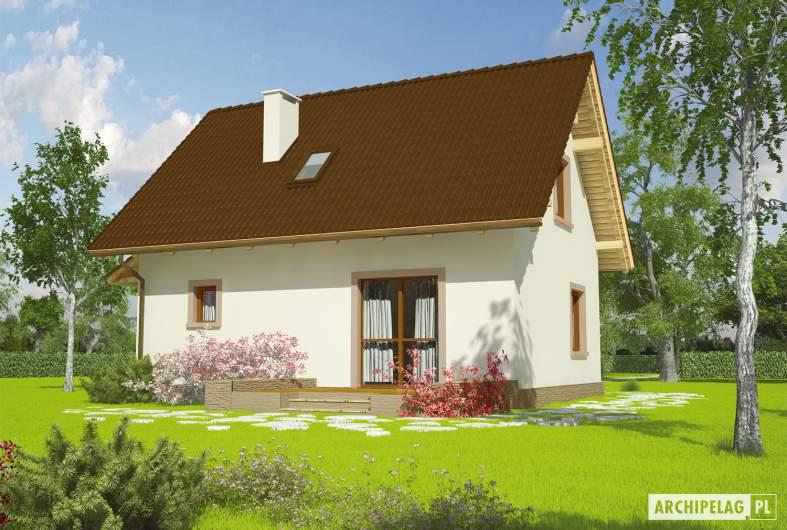 Projekt domu Celinka Mocca - wizualizacja ogrodowa