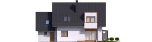 Projekt domu April G1 - elewacja tylna