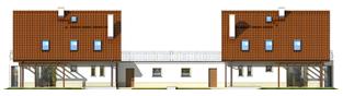 Projekt domu Kajka G2 (bliźniak) - elewacja tylna