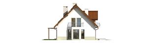 Projekt domu Kajka G2 (bliźniak) - elewacja lewa