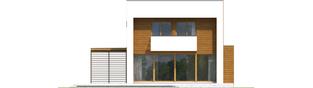 Projekt domu EX 5 G1 ENERGO PLUS - elewacja tylna