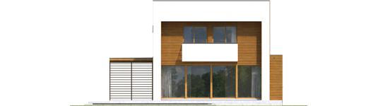 Екс 5 (Г1, Енерго) * - Projekt domu EX 5 G1 - elewacja tylna
