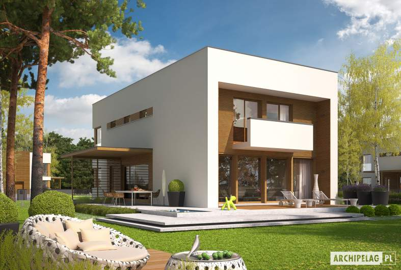 Projekt domu EX 5 G1 - wizualizacja ogrodowa