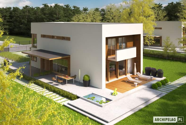 Projekt domu EX 5 G1 - widok z góry lewy