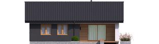 Projekt domu Mini 3 - elewacja tylna