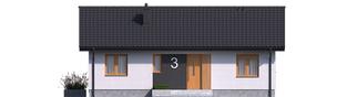 Projekt domu Mini 3 - elewacja frontowa