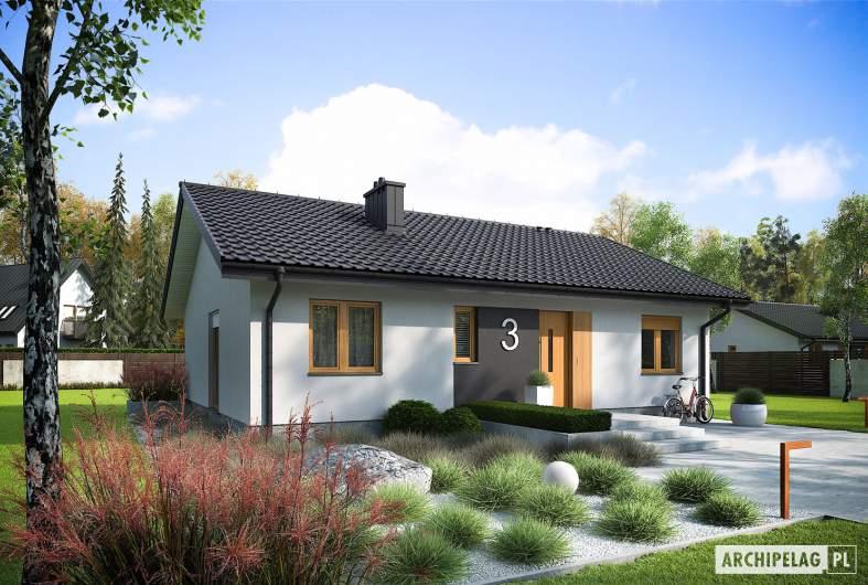 Projekt domu Mini 3 - wizualizacja frontowa