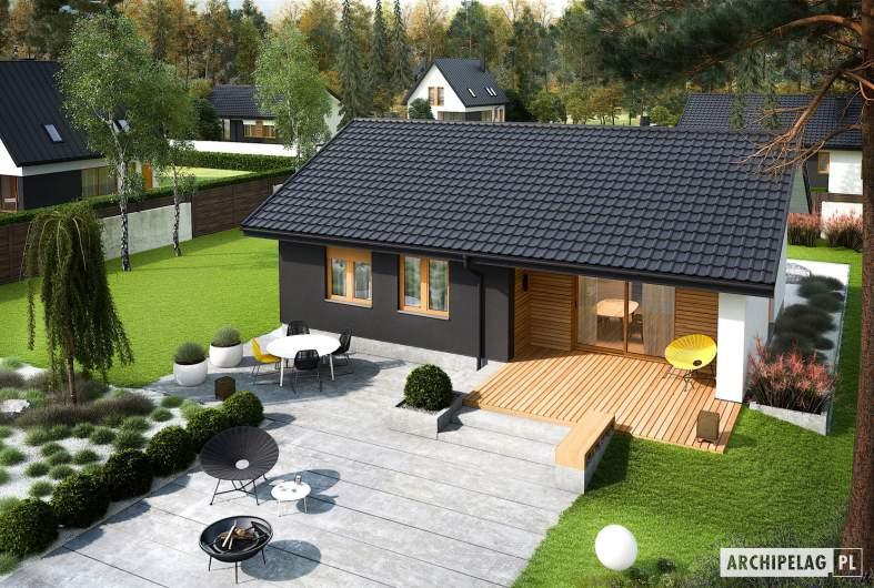 Projekt domu Mini 3 - widok z góry