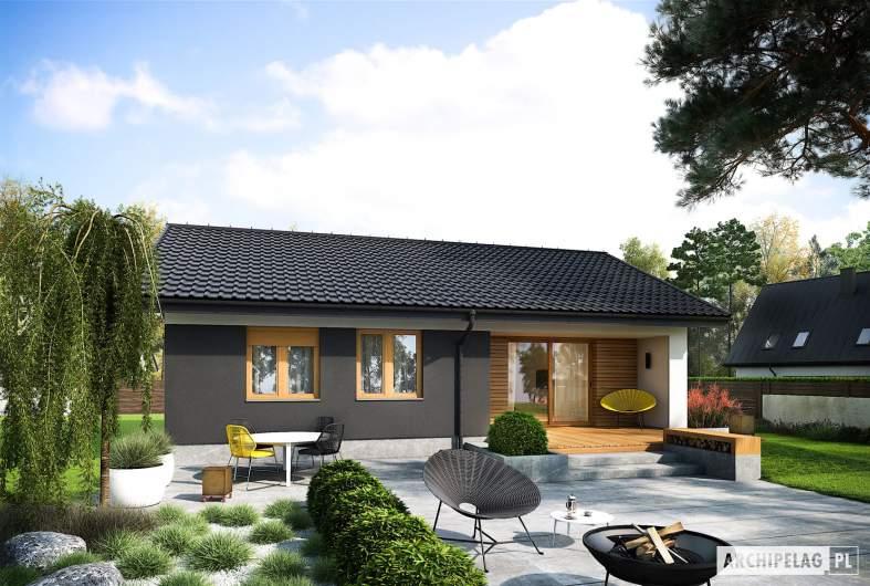 Projekt domu Mini 3 - wizualizacja ogrodowa
