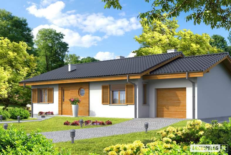 Projekt domu Manuela G1 - wizualizacja frontowa