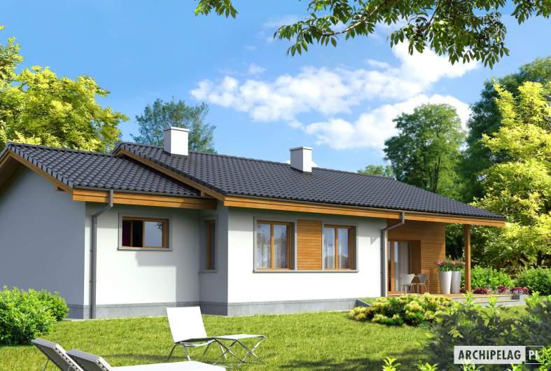Projekt domu Manuela G1 - wizualizacja ogrodowa