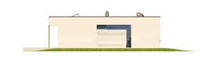 Projekt domu EX 7 (z wiatą) soft - elewacja lewa
