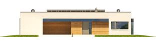 Projekt domu EX 7 (z wiatą) soft - elewacja frontowa