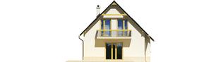 Projekt domu Oleńka - elewacja lewa